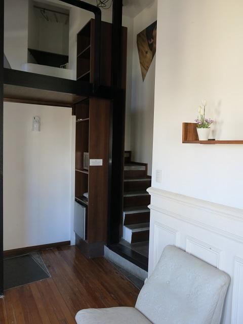 Escaliers de la chambre avec mezzanine - Hotel Bonito - Buenos Aires, Argentine