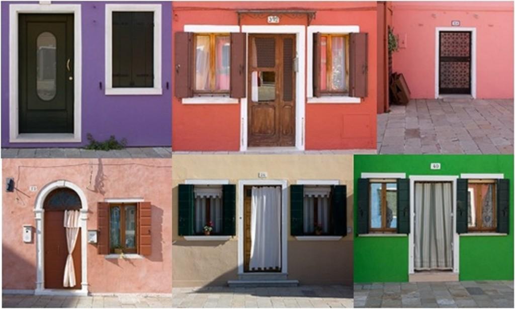 Les portes de Burano, Italie