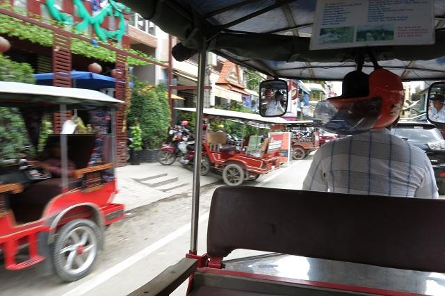 Vue du tuk-tuk, Phnom Penh, Cambodge