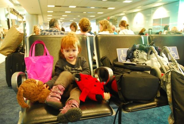 Roukie à l'aéroport
