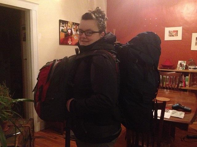 Avec mon fidèle compagnon - Mon sac à dos