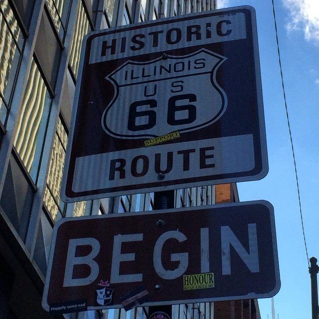 Début de la route 66 - Chicago, Illinois