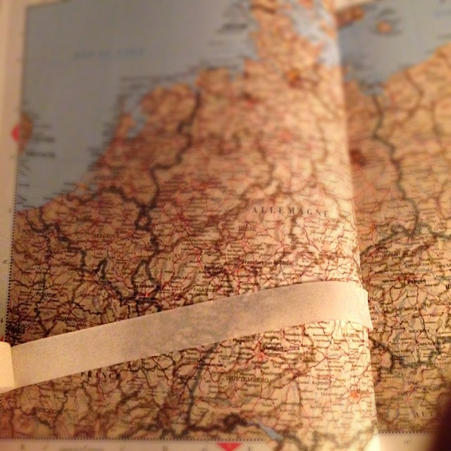 Itinéraire au papier collant Europe