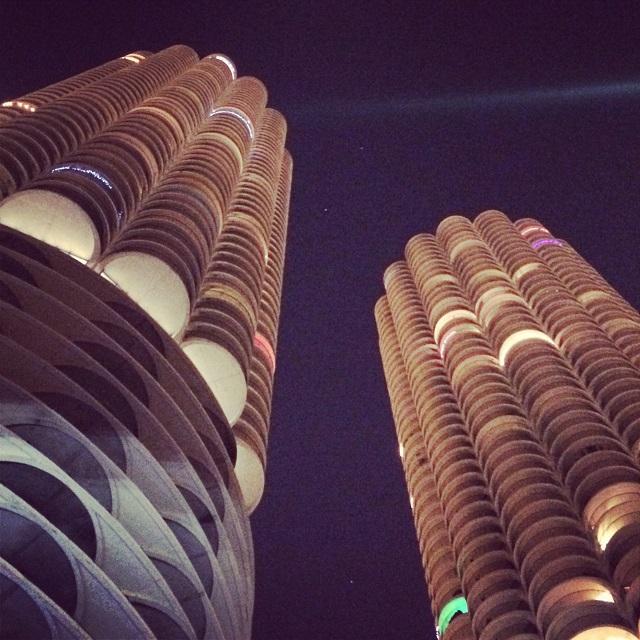 Marina City de nuit - Chicago, Illinois