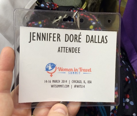 Mon badge pour Women in Travel Summit 2014