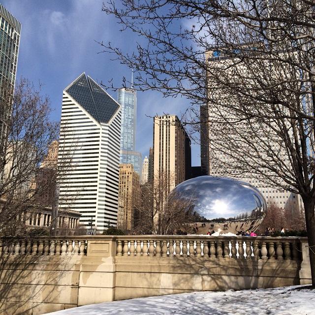 The Bean et le centre-ville - Chicago, Illinois