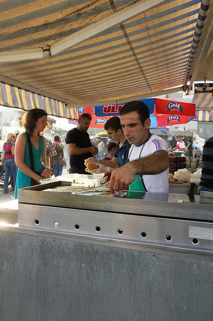 Au marché aux poissons - Istanbul, Turquie