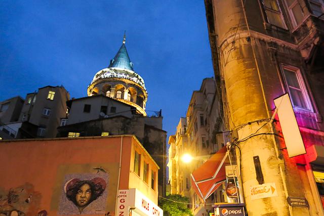 Vue sur la tour de Galata - Istanbul, Turquie