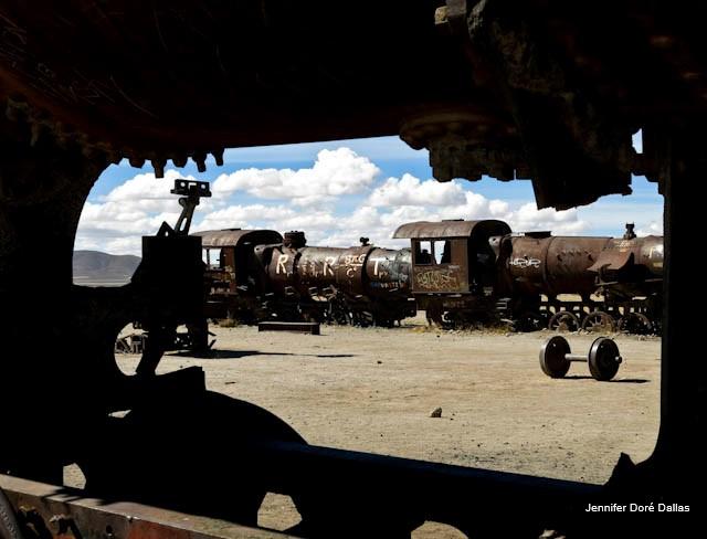 Cimetière de trains - Désert de sel - Salar d'Uyuni, Bolivie
