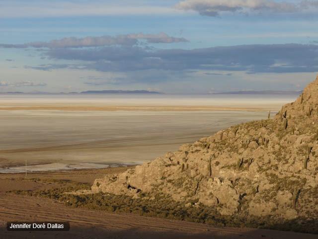 Des couches colorées - Désert de sel - Salar d'Uyuni, Bolivie