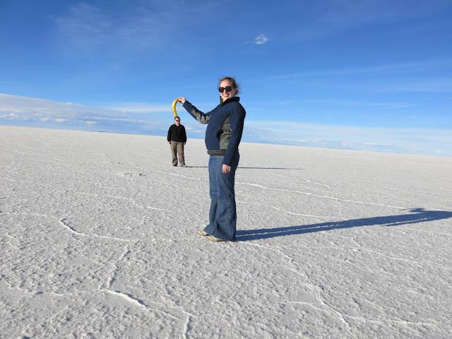 Euh... bizarre - Désert de sel - Salar d'Uyuni, Bolivie