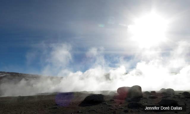 Geyser et vapeurs - Désert de sel - Salar d'Uyuni, Bolivie