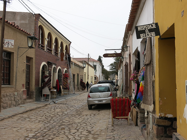 La rue du restaurant - Pacha Manka - Humahuaca, Argentine