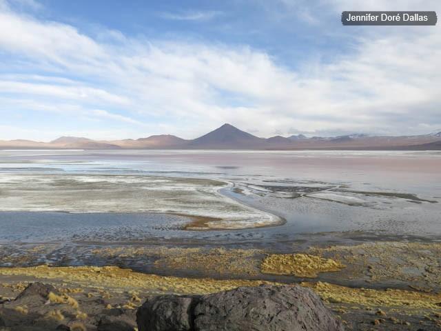 Lagune colorée - Désert de sel - Salar d'Uyuni, Bolivie