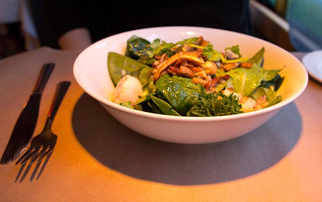 Meilleurs champignons du monde sur cette salade au Mouton Noir - Baie-St-Paul, Charlevoix
