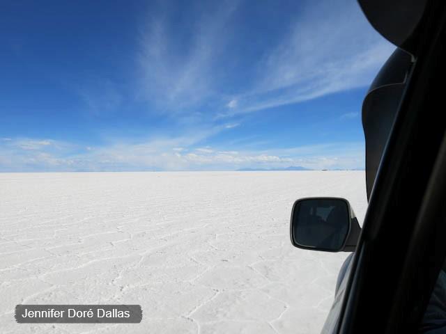 Pas de route - Désert de sel - Salar d'Uyuni, Bolivie