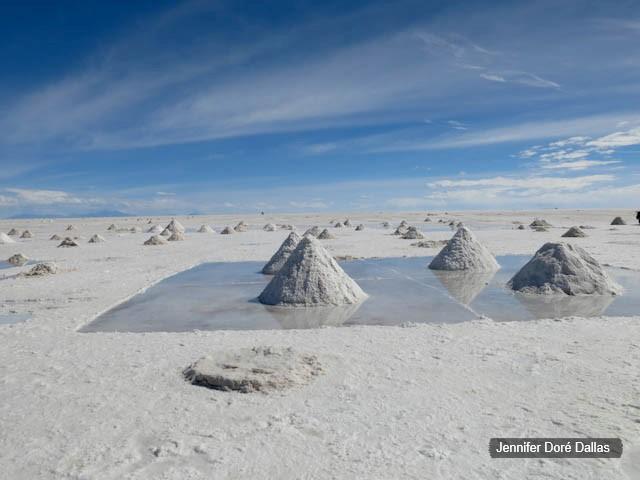 Reflets - Désert de sel - Salar d'Uyuni, Bolivie