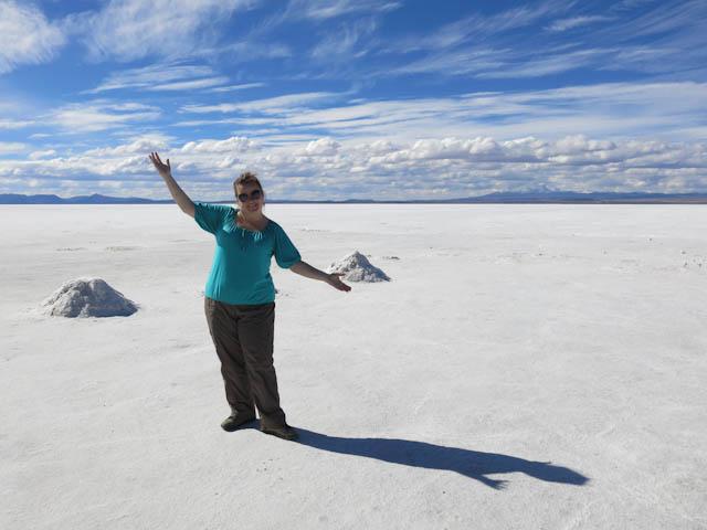 Seule dans l'infini - Désert de sel - Salar d'Uyuni, Bolivie