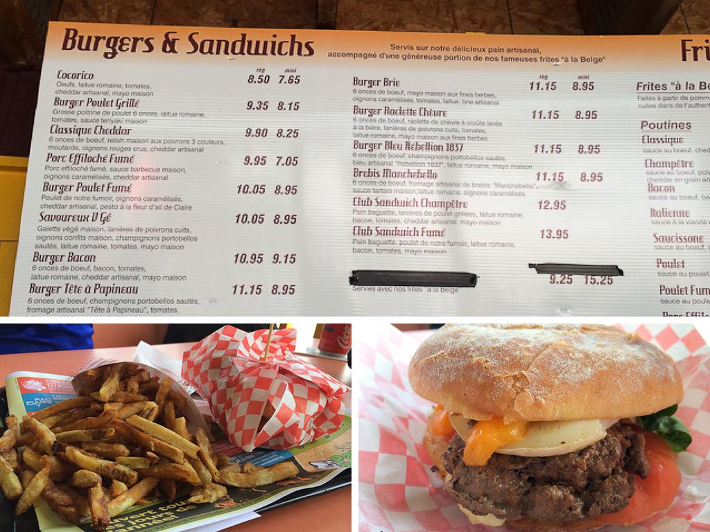 Burger du Délice Champêtre - Montebello, Outaouais