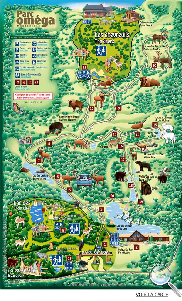 Carte du Parc Oméga