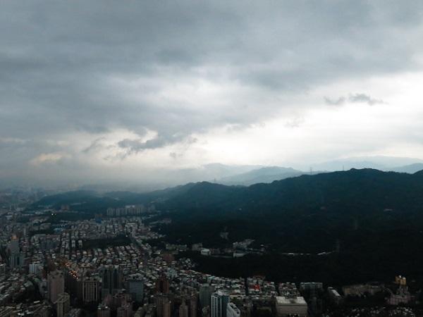 Le soleil se couche - Taipei 101, Taiwan