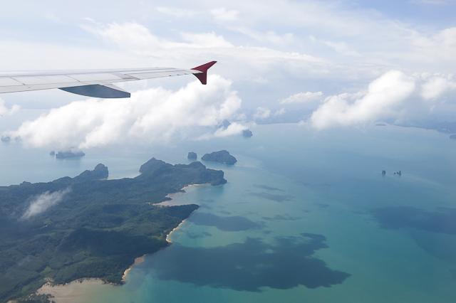 Phuket vue de l'avion