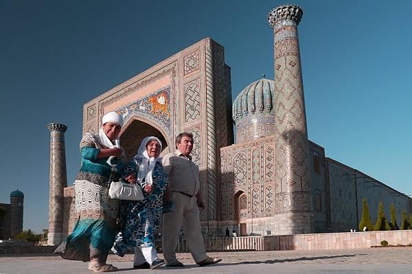 Le Registan à Samarcande en Ouzbékistan
