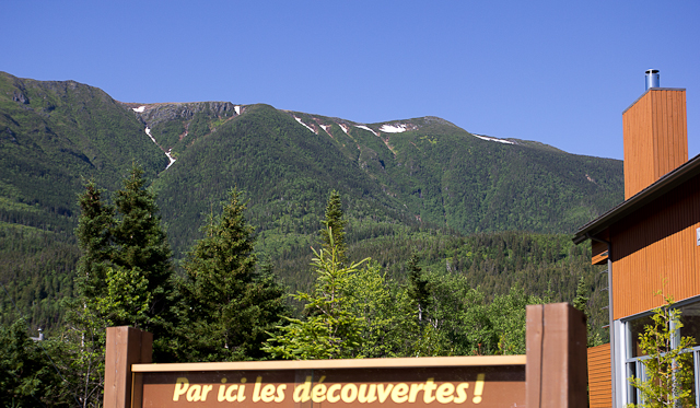 Vue de la chambre - L'Auberge Gîte du Mont-Albert, Gaspésie