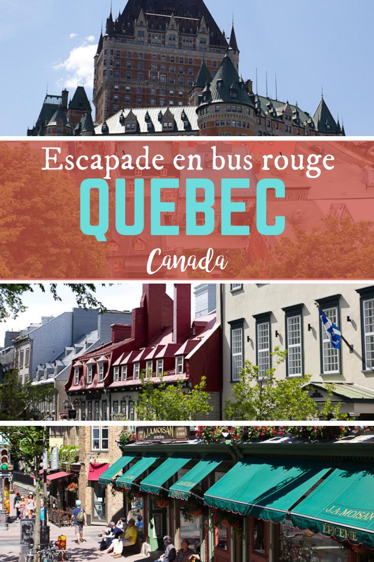 Visite de Québec City en bus rouge