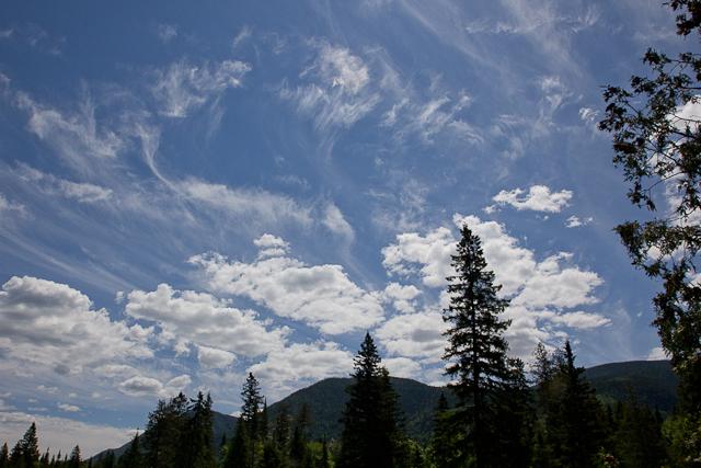 Ciel vu de l'Auberge Gîte du Mont-Albert, Gaspésie