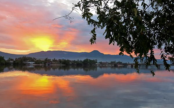 Coucher de soleil - Kampot, Cambodge