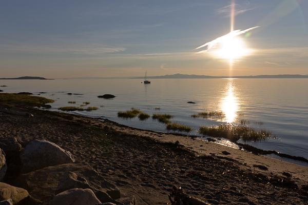 Coucher de soleil sur la plage, Kamouraska