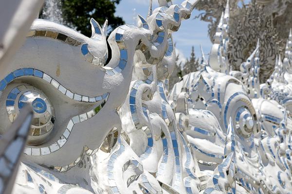 Détails du Temple Blanc (White Temple) - Chiang Rai, Thaïlande
