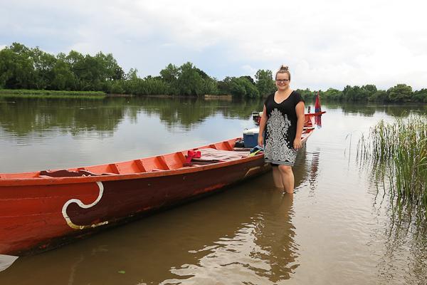 En barque avec Bart - Kampot, Cambodge