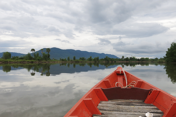 En bateau avec Bart - Kampot, Cambodge