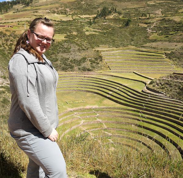 Jennifer à Moray - Vallée sacrée des Incas, Pérou