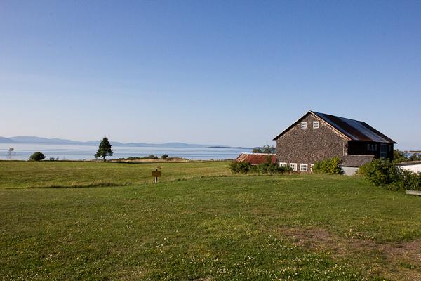 La vue de la terrasse - Microbrasserie Tête d'Allumette - Kamouraska