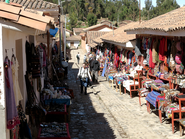 Le centre commercial local - dans la vallée sacrée du Pérou