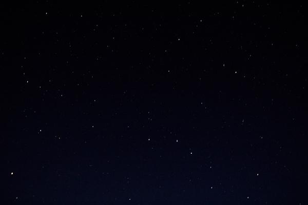 Les étoiles, nuit noire de Kamouraska