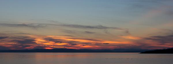 Panoplie de couleurs au coucher de soleil, Kamouraska
