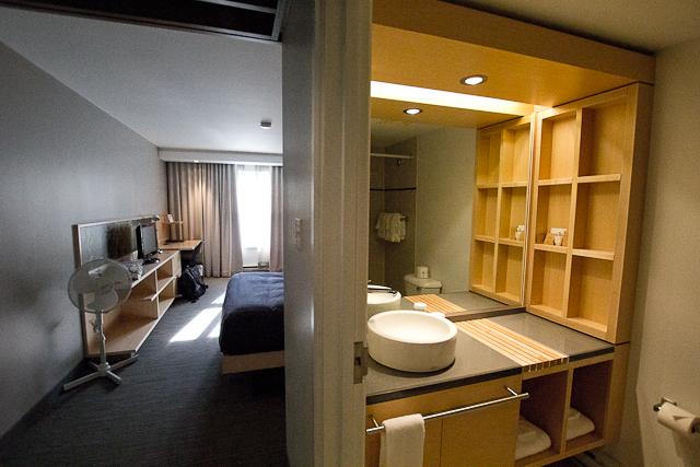 Salle de bains et chambre - L'Auberge Gîte du Mont-Albert, Gaspésie