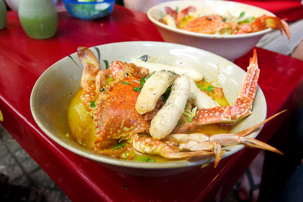 Soupe au crabe dont j'ai raffolé - Back of the bike tours - Ho Chi Minh - Saigon, Vietnam