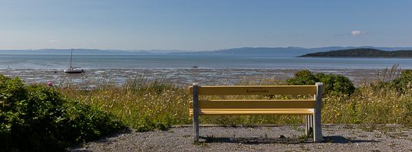 Un banc avec une vue sublime - Kamouraska