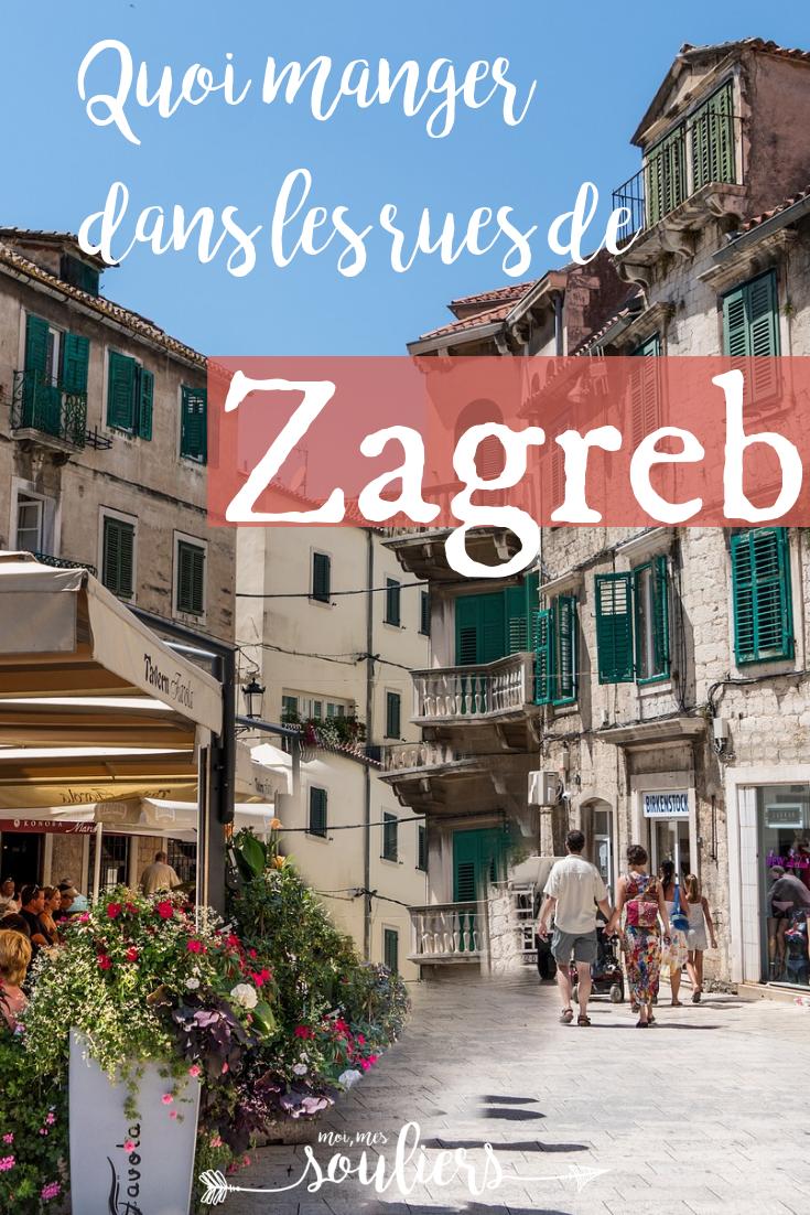 Street food à Zagreb en Croatie