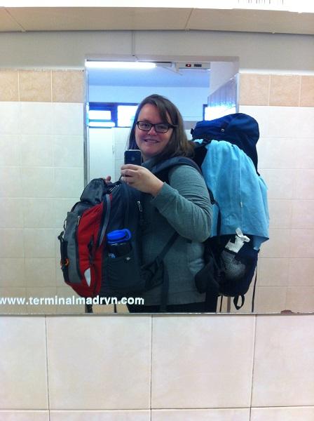 Une tortue - 2 sacs à dos en tour du monde