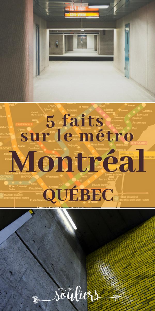 5 faits à propos du Métro de Montréal, Québec