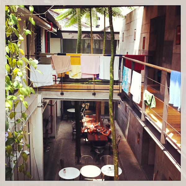 Aire ouverte et salle commune - BackHome Hostel - Kuala Lumpur, Malaisie