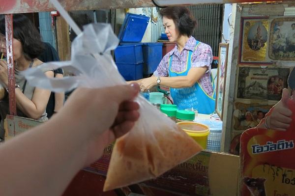 Café glacé dans un sac - Bangkok, Thailande