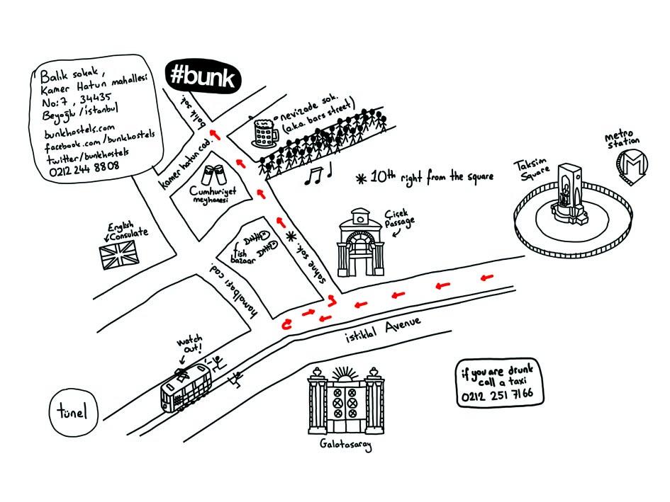 Carte du quartier - #Bunk Beyoglu - Istanbul, Turquie