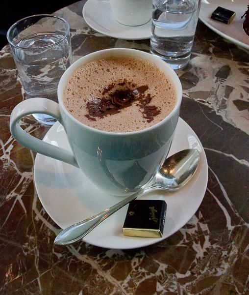 Chocolat chaud Sprungli - Zurich, Suisse